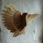 Fan bird carving