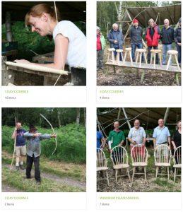 greenwood days woodland craft courses